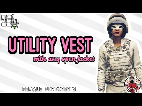 GTA5 | Female Components: Utility Vest with ANY Open Jacket