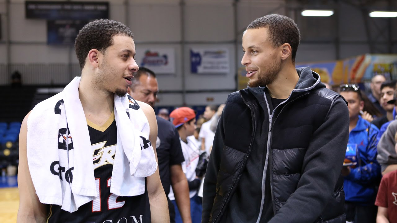 seth curry scores 25 points in front of steph at 2015 nba