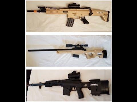 Fortnite Scoped SCAR, Bolt Action Sniper And Heavy Sniper Replica Toy Props