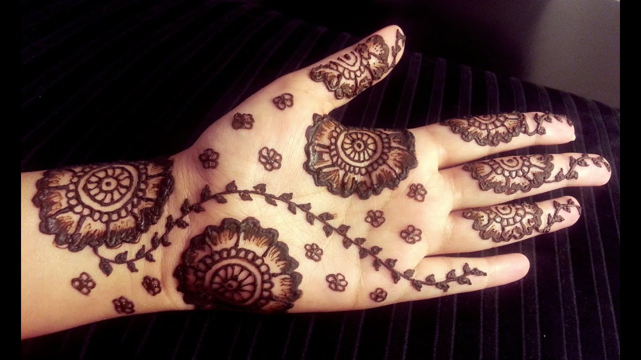 Henna Flower Designs: Simple Pretty Mehendi Design With