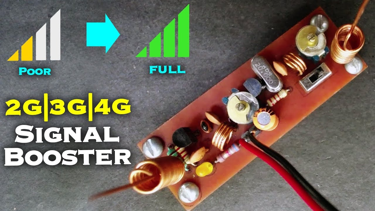 make your own cell phone signal booster for 2g 3g 4g network [ 1280 x 720 Pixel ]