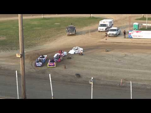 Mini Wedge Heat Race #1 at Crystal Motor Speedway, Michigan on 07-22-2017.