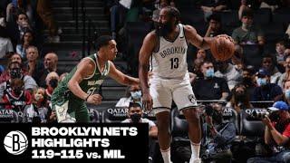 Brooklyn Nets Highlights vs. Milwaukee Bucks
