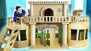 AMAZING HOUSE FOR PUPPY DOG FROM CARDBOARD