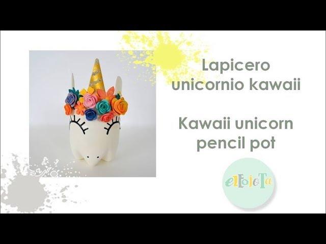Lapicero unicornio kawaii