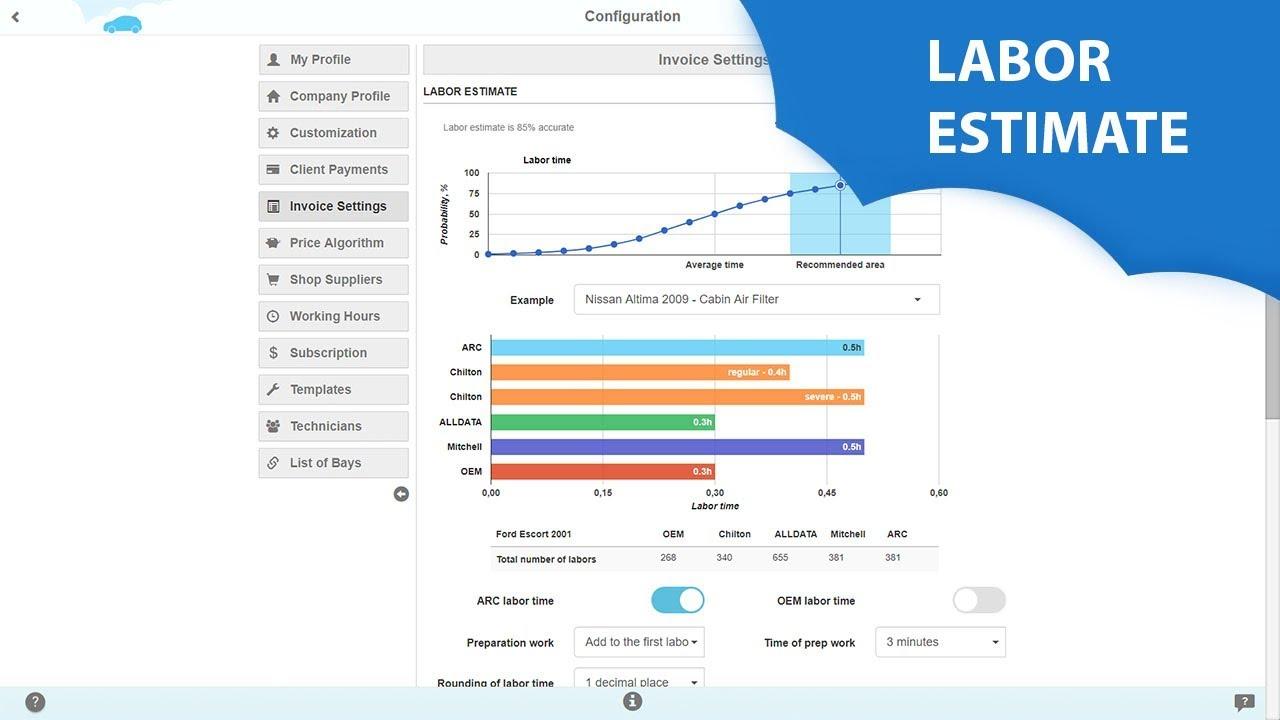 AutoRepair Cloud - Labor estimate - YouTube