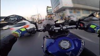 Özlediğiniz Eve Dönüş Videosu :) // Az Teker Çok Yanlama // Yamaha Mt-09 Wheelie - Drift