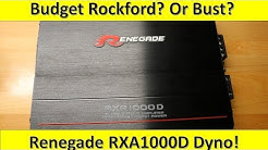 Budget Brand from Rockford? Or Just a Bust? Renegade RXA1000D Amp Dyno and Unboxing