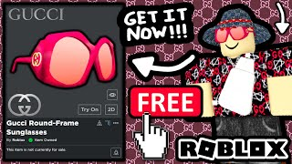 FREE ACCESSORY! HOW TO GET Gucci Round-Frame Sunglasses! (ROBLOX GUCCI GARDEN EVENT)