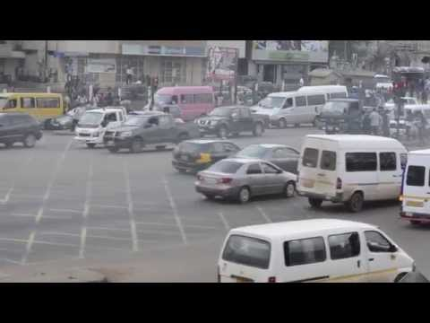 Beautiful & hectic road in Accra Metropolitan area