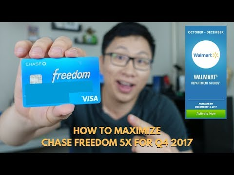 How to Maximize the Chase Freedom 5x Bonus for Q4 2017