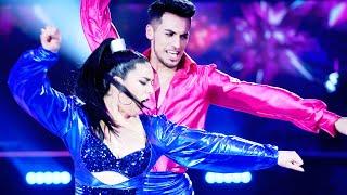 Angela Leiva y Jonathan Lazarte abrieron la pista bailando un #DISCO infernal