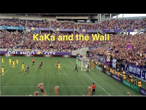 Kaka Celebrates with the Wall!!