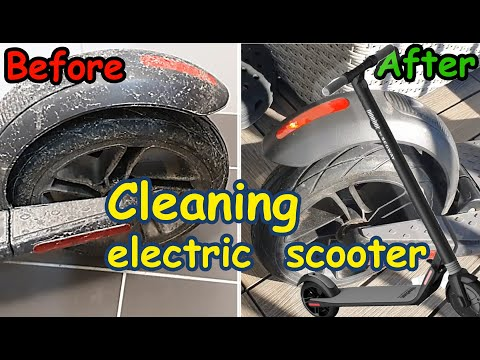 How To Clean Your Electric Scooter Segway Ninebot ES2 For Free / Cómo Limpiar Tu Scooter Eléctrico.