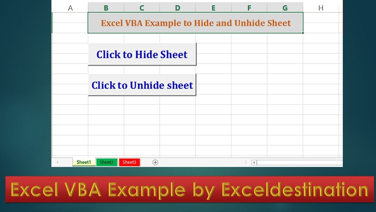 worksheet Excel Vba Hide Worksheet vba code to hide and unhide sheets excel example by exceldestination
