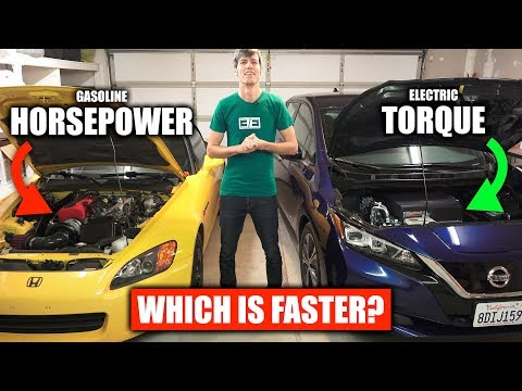 Horsepower vs Torque - Gasoline vs Electric Cars