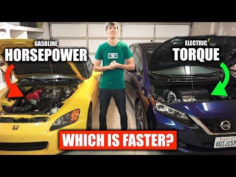 Horsepower vs Torque - Gasoline vs Electric Cars - YouTube