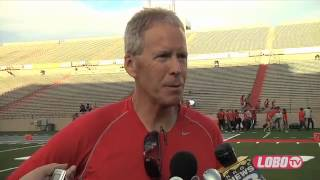 2012 Lobo Football | Coach Bob Davie Post-All University Day Scrimmage-Press Conference
