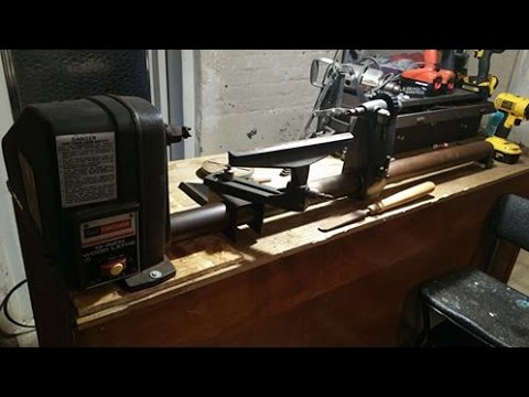 Reviving grandpa's old lathe  Craftsman 12 inch lathe How to mount motor