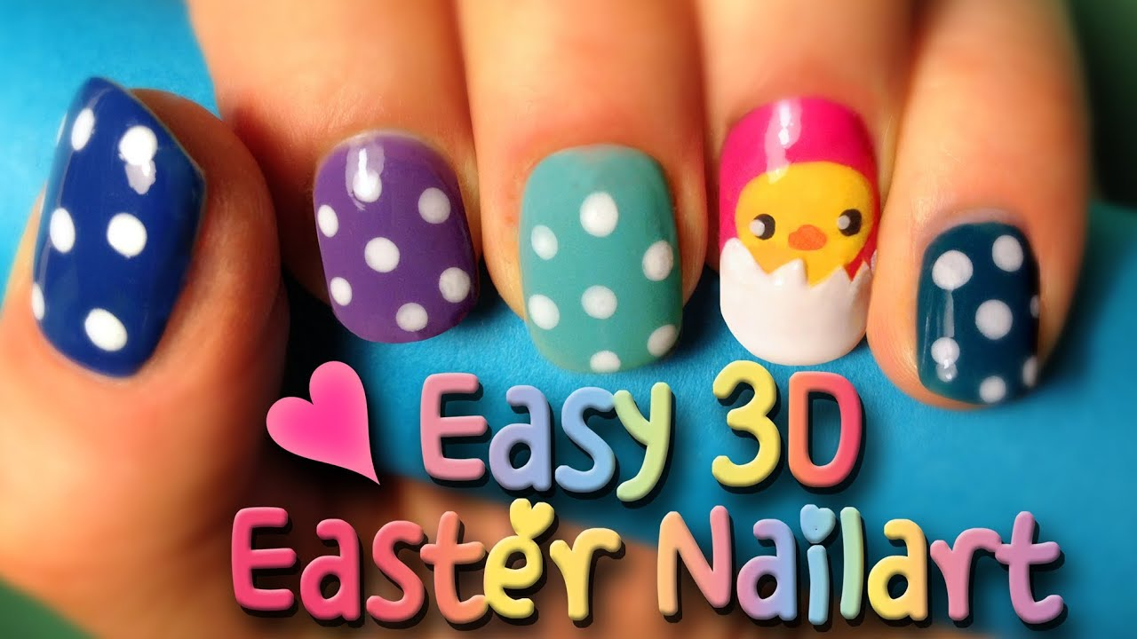 Tutorial How To Do An Easy Easter Nailart Design In Eggshell You