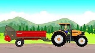 Fairy Tractors Story - Stones And Farmer Farm Work And Fairy Tales For Children