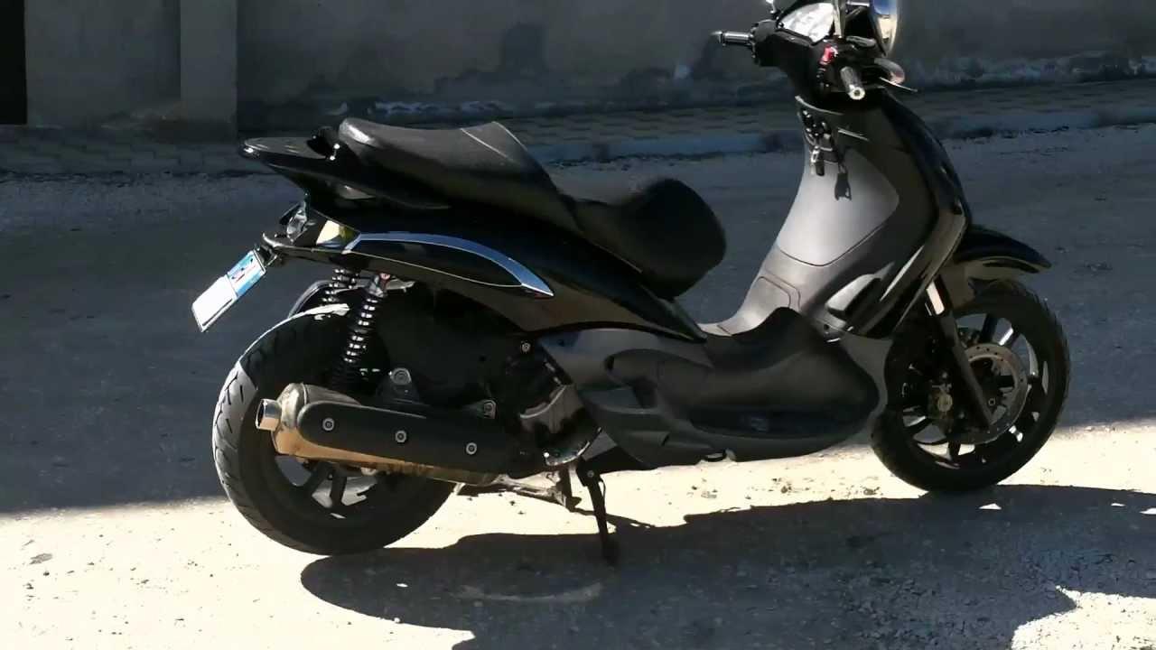 beverly 500 portatarga moto ammortizzatori paioli - youtube