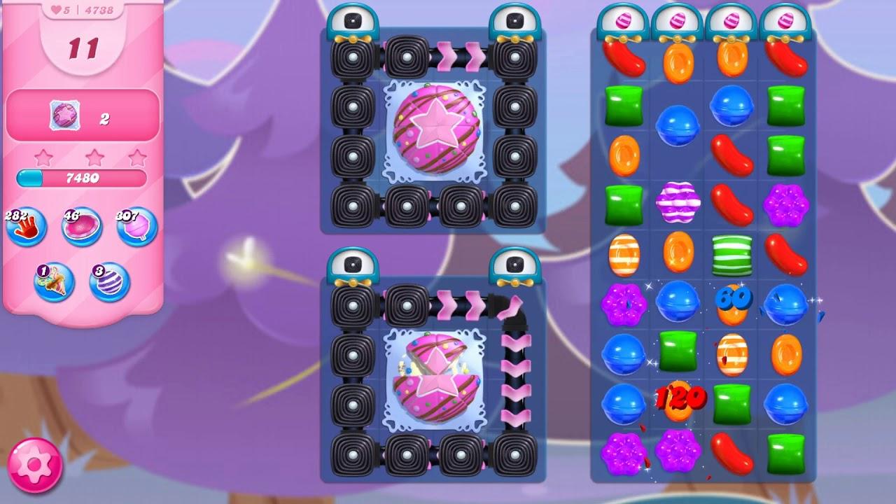 Candy Crush Saga - Level 4738 - No boosters ☆☆☆