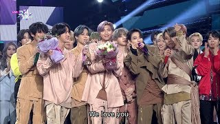 BTS Winning Moment [ENG SUB / Music Bank  2020.02.28]