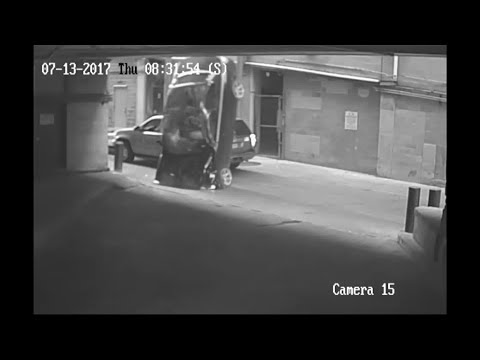 Raw: Car Falls 7 Stories from Parking Garage