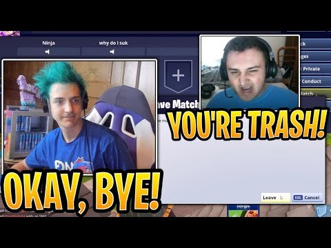 Ninja Left Random Duo with TOXIC Trash Talking Streamer! - Fortnite Best and Funny Moments