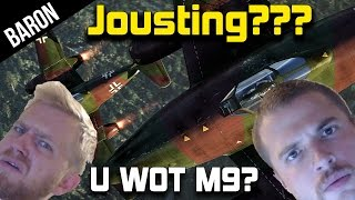 War Thunder Gameplay - Baron and Phly Attempt to Joust in Jets!
