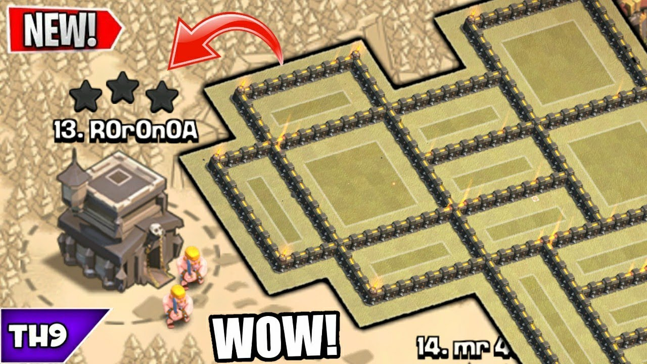 NEW TOWN HALL 9 WAR BASE 2019! TH9 ANTI 3 STAR WAR BASE WITH REPLAYS!! – CLASH OF CLANS(COC)