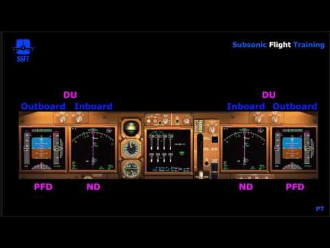 Electronic Flight Instrument System - Displays & Instrument Switching (iFly 747-400)