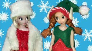 Frozen Christmas – Elsa and Anna Celebrate + Princesses, Christmas Songs, Lights, Decorations, Tree!