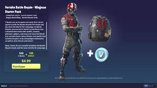 *NEW* Fortnite WING MAN STARTER PACK! (Official Release + Showcase) *Giveaway*