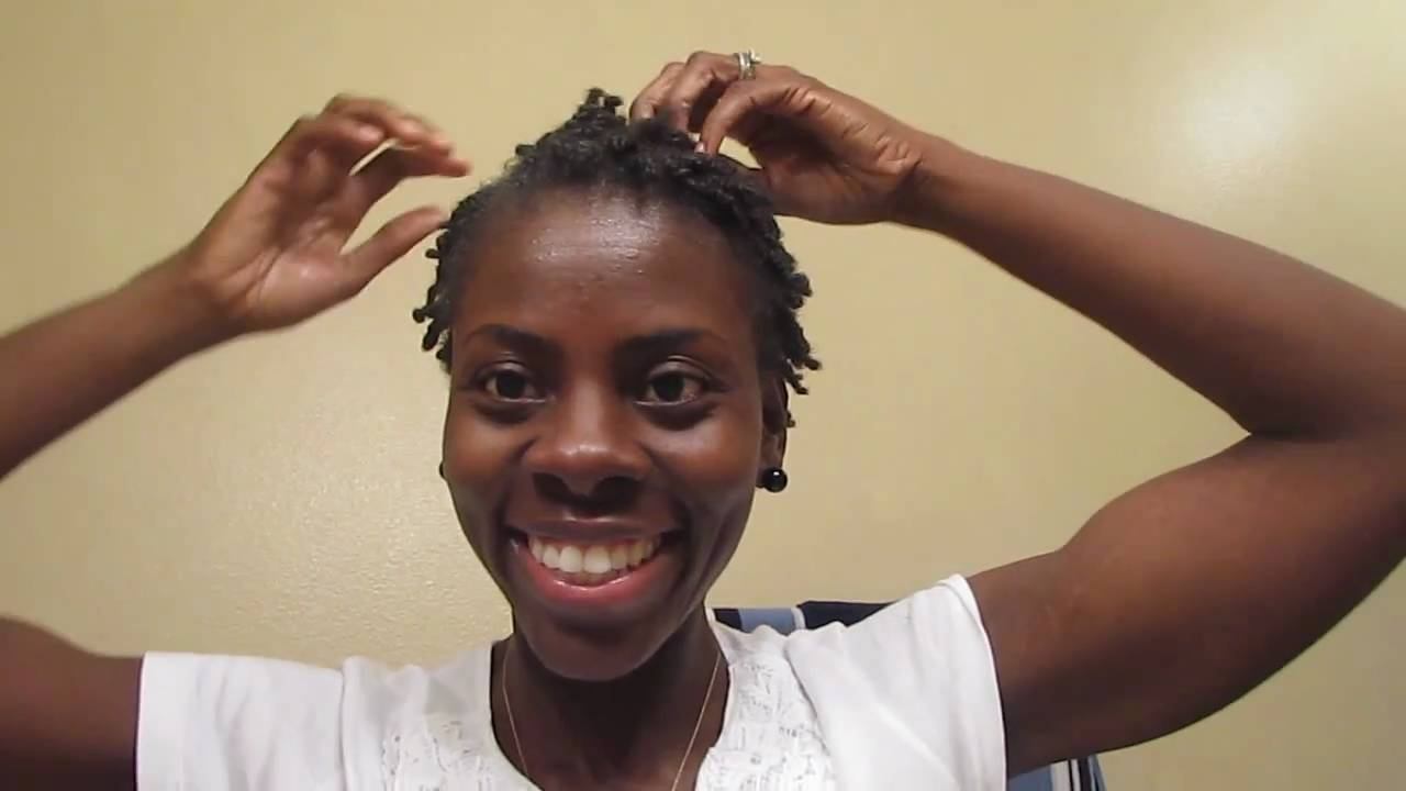 2 Strand Twist On Short Natural Hair, Protective Style On