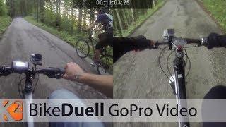 Das Berg-Sprint-Duell: E-Bike (Giant) vs. 7,1kg MTB (Cannondale) - Falkenstein Pfronten Allgäu