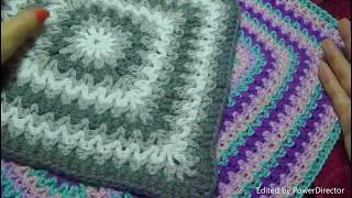 🌸Коврик(салфетка) квадратный крючком.Красиво и просто/Crochet