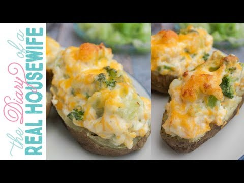 Cheesy Broccoli Ranch Twice Baked Potatoes | The Diary of a Real Housewife