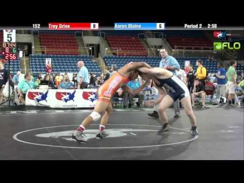 Junior 152 - Trey Grine (Ohio) vs. Aaron Blaine (Washington)