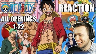 One Piece All Openings 1-22 REACTION
