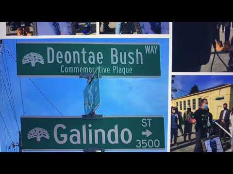 35th And Galindo Named Deontae Bush Way In Oakland 3 Years After His Death In Traffic Accident