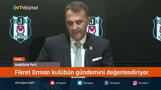 Beşiktaş Başkanı Fikret Orman, açıklamalarda bulunuyor
