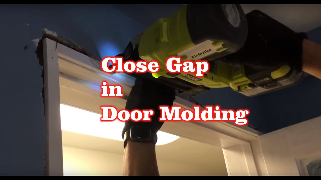 How To Fix Close A Gap Crack Space In Door Molding Youtube