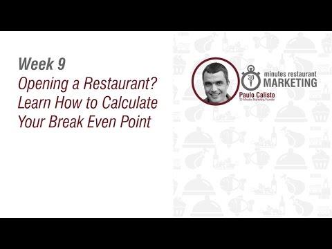 Starting a Restaurant - Restaurant Break Even Point