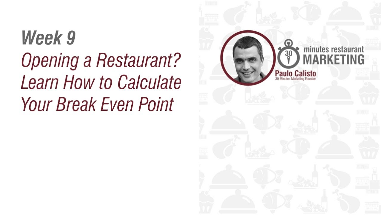 Starting A Restaurant   Restaurant Break Even Point   YouTube  Define Breakeven Analysis