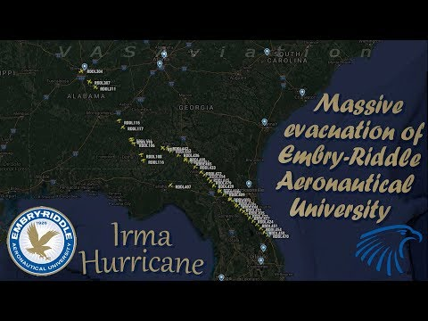 Hurricane Irma forces Embry-Riddles to massive escape out of Florida!!