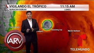 Dorian se acerca lentamente a Florida como categoría 4 | Al Rojo Vivo | Telemundo