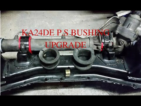 project build 240sx power steering rack bushing upgrade