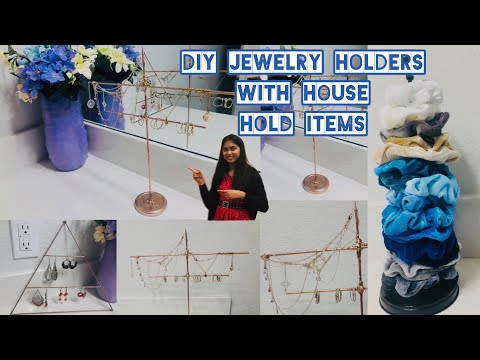 simple-jewelry-holder-diy-with-household-items//kavitha's-world//telugu-in-usa